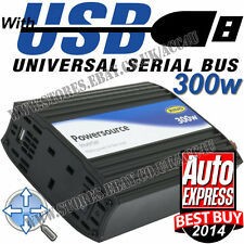 Anillo 12v batería de coche a 240v Casa enchufe eléctrico de 300 W Power Inverter + 2a Puerto Usb