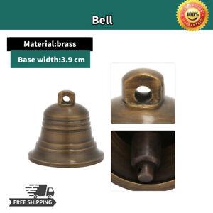 1.5 Inch Antique Small Brass Bell Buddhist Prayer Supplies Hanging Decor Craft