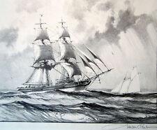 "Gordon Grant Ship ""Saucy Brig"" lithograph"
