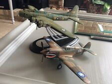 Franklin Mint 2 Airplanes B-17F Memphis Belle 1316/1945 & Flaying Tigers P-4DE