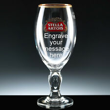 Personalised Stella Artois Engraved 1 pint Chalice Branded Beer Glass + Gift Box