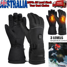 Outdoor Electric Heated Warm Gloves 3 Control Level Battery Power Hand Winter AU