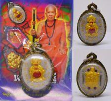 4 Ears 5 Eyes Wealth Monster Kruba Tao Thai Amulet Charm Talisman Money Gold