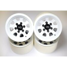 Hot Racing BLW22S38 Steel 2.2 Beadlock 6-Lug Wagon Wheels 12mm Hex (White)(4)