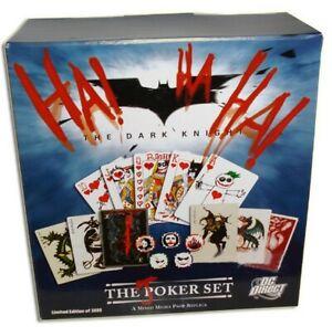 The Joker Poker Set prop Replica Batman, carte da poker + fiches - The Dark K...
