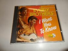 CD   The Everly Brothers - I want you to know