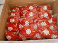 5 BOXES -240  COUNT RED LIP  WHISTLES/ GREAT PARTY FAVORS