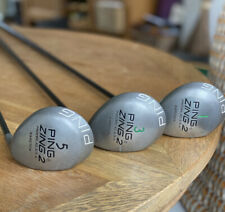 Ping Zing Metal Woods. Set of three classic woods: 1, 3 & 5. Superb Condition