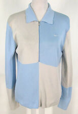 Nike Dri Fit Top Sz L 12 14 Women 1/2 Zip Sweater Nylon Stretch Knit NWT