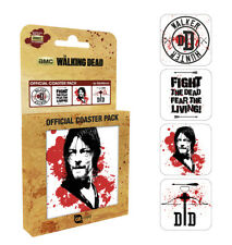 The Walking Dead Daryl Dixon 4x Four Coaster Set Official Hunter Crossbow TV
