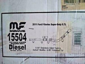 """. 2011-2014  6.7L Crew Cab Magnaflow Cat-BackExhaust 15504 5"""" superseded  17872"""