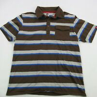 The North Face Men Polo Shirt Short Sleeve Large Brown Casual Hiking Camping