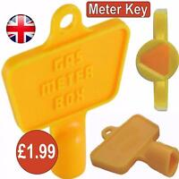 Yellow Service Utility Meter Key Gas Electric Box Cupboard Cabinet Triangle DIY