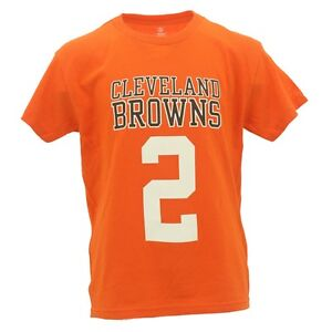 NFL Youth Size Johnny Manziel Cleveland Browns Official NFL Fan Apparel T-Shirt