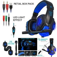 NEW DELUXE HEADSET HEADPHONE WITH MICROPHONE FOR XBOX ONE & S PS4 PC MAC TABLETS
