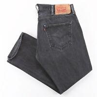 Vintage LEVI'S 501 Black Denim Regular Straight Jeans Mens W38 L30