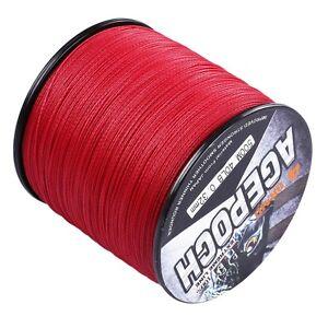 Power Agepoch 100M-2000M 6-300LB Red Power Dyneema Braided Fishing Line Casting