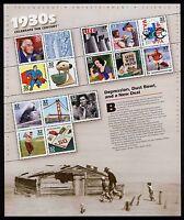 #3185 32c Celebrate the Century: 1930s, Souvenir Sheet, Mint
