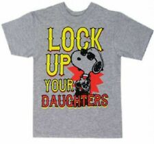 NWT Boys SNOOPY Peanuts Lock Up Your Daughters Short Sleeve Shirt T-Shirt 3t