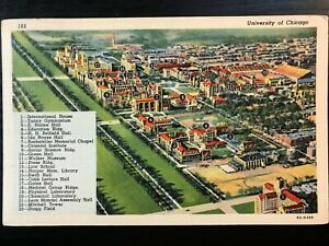 Vintage Postcard>1939>Bird's-Eye View>University of Chicago>Illinois