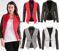 Hip Length Biker Jackets without Fastening for Women