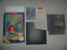 Disney's The Little Mermaid (1991) Nintendo Nes Game Complete With Box & Manual