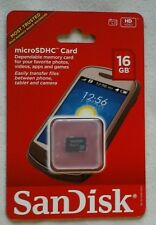 New NIP Scandisk MicroSDHC CARD 16 GB Micro SDHC 16GB HD Video SDSDQ-016G-A46