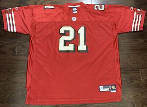 Vintage Frank Gore #21 San Francisco 49ers NFL Football Reebok Jersey Mens XXXXL