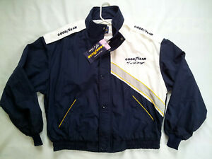 VINTAGE NEW WITH TAG GOODYEAR #1 RACING  CREW FULL ZIPP  LIGHTWEIGHT JACKET