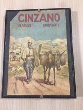 Quadretto Con Locandina Vintage Cinzano Vermouth Spumanti