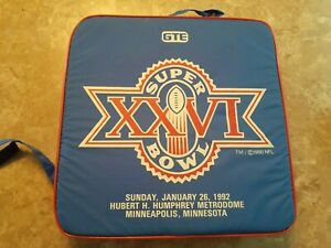 SUPERBOWL XXVI GTE Stadium Seat Cushions, Washington Red Skins & Buffalo Bills92