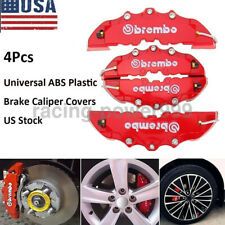 4PCS Auto Disc Brake 3D Cars Parts Caliper Covers Front Rear Red Universal ABS