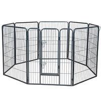 "Dog Pet Playpen Heavy Duty Metal Exercise Fence Hammigrid 8 Panel 40"""