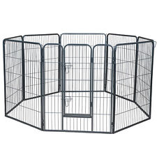 Dog Pet Playpen Heavy Duty Metal Exercise Fence Hammigrid 8 Panel 40""