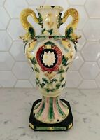Vintage Antique Maruhon Ware Vase Hand Painted Made In Japan 10""