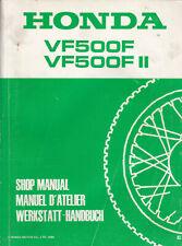 Honda VF500F VF500FII 1984 Shop Manual