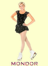 Mondor® #2988 Size Adult Medium Black & Silver Floral Skating Dress/Costume