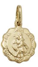 9CT GOLD SAINT CHRISTOPHER ST CHRIS PENDANT TRAVEL MEDAL CHARM FOR CHAIN LOCKET