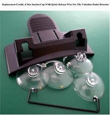 Replacement Cradle/Mount, 4 Cup+Release Wire For The Valentine V1 Radar Detector