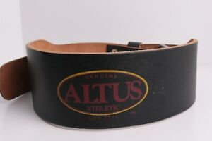 Vintage Altus 2 Prong Leather Weight Lifting Belt Size Large 34-42