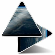 2 x Triangle Stickers 10 cm - Earth Space Planet NASA Solar System  #8093