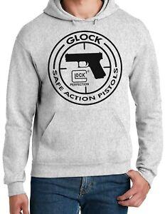 Glock Perfection Handgun Pistol Logo - 50/50 Pullover Hoodies - Gray - Assorted