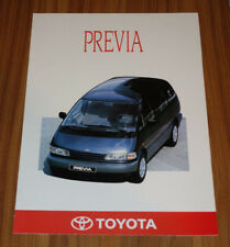 Catalogue TOYOTA PREVIA de 1991