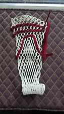 Lacrosse Mesh Semi-Soft Wax Field Mesh Don Bosco Prep Maroon/White