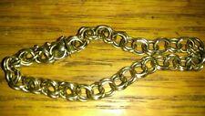 "Solid heavy 14K Gold Bracelet double link 15.9 Grams 8"" long stamped"