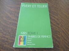 catalogue yvert et tellier 1986 tome 1 timbres de france