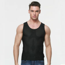 Men Mesh Tank Top Sleeveless Fitness Vest Wicking Sports Singlet Polyester