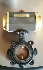 "CompacTorque Actuator CTS Size 50 Spring Set 6 w/ 3"" Butterfly Valve"