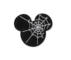 Mickey Mouse - Disney - Spider Web - Halloween - Embroidered Iron On Patch
