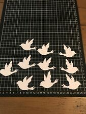 "Scrapbooking Die Cuts / Punch Dove Bird Shape "" X 10 White"